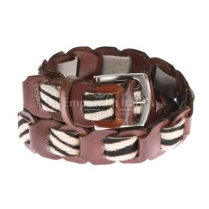 Cintura donna in vera pelle DELIA REI mod. SAVONA colore MARRONE Made in Italy