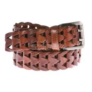Mens buffered real leather belt mod. CHICAGO