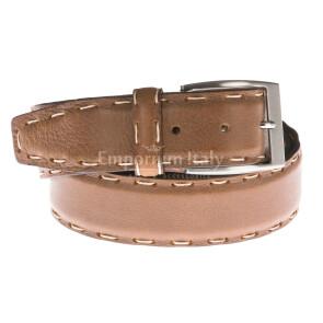 Cintura uomo in vera pelle GP & MAX mod. DUBAI colore MIELE Made in Italy