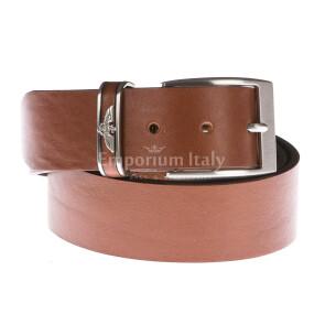 Cintura uomo in vera pelle GP & MAX mod. PORTLAND colore MARRONE Made in Italy