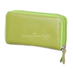 Ladies wallet in traditional leather mod. PAPAVERO