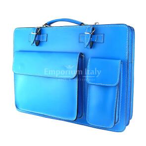 офисный портфель /деловая сумка из кожи MAESTRI мод. ALEX maxi, цвет красный, Made in Italy.