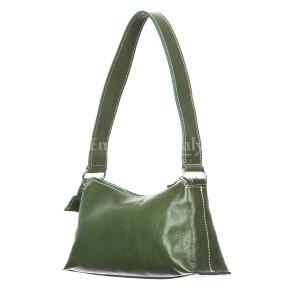 Borsa donna in vera pelle RINO DOLFI mod. MARILYN, colore VERDE, Made in Italy.