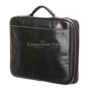 Work / office genuine leather bag RINO DOLFI mod. ALFREDO, colour BLACK, Made in Italy.