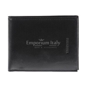Genuine leather wallet for man MAROCCO, BLACK colour, VALENTINI, MADE IN ITALY