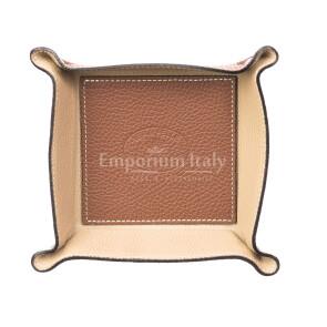 Кошелёк-перчатка  мужская / женская из кожи EMPORIO TITANO мод. HARRY, цвет КОРИЧНЕВЫЙ / БЕЖЕВЫЙ, Made in Italy.