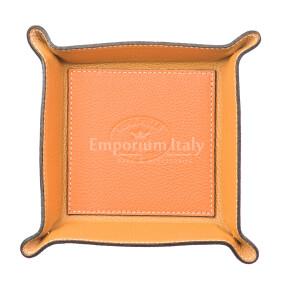 Porta oggetti uomo / donna in pelle EMPORIO TITANO mod HARRY, colore ARANCIO, Made in Italy.