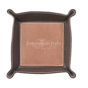 Кошелёк-перчатка  мужская / женская из кожи EMPORIO TITANO мод. HARRY, цвет КОРИЧНЕВЫЙ / ТЁМНОКОРИЧНЕВЫЙ, Made in Italy.