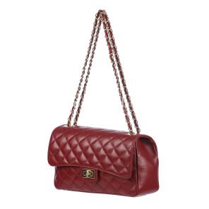 CHARLOTTE MEDIUM : borsa donna in pelle morbida, colore : ROSSO, Made in Italy