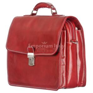 Cartella ufficio / lavoro uomo in vera pelle RINO DOLFI mod. STEFANO colore ROSSO Made in Italy.