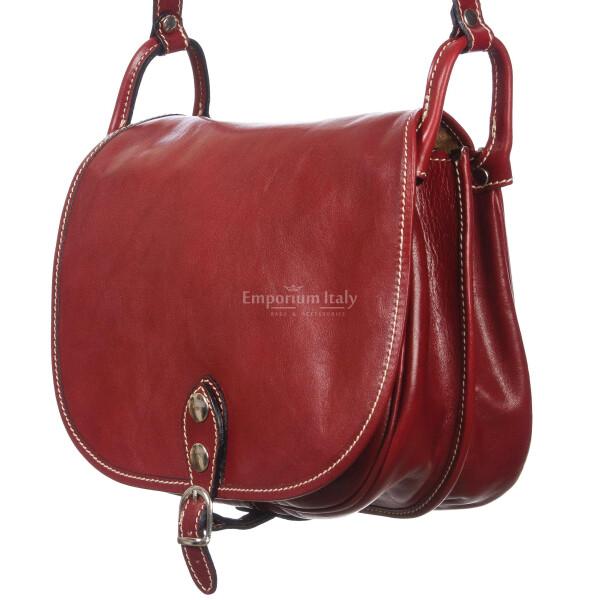 Borsa donna in vera pelle RINO DOLFI mod. TERESA colore ROSSO Made in Italy