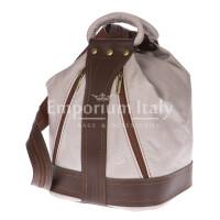 Borsa zaino donna in vera pelle EMPORIO TITANO mod. GRIGNA colore BEIGE Made in Italy.
