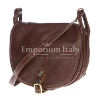Borsa donna in vera pelle RINO DOLFI mod. TATIANA colore MARRONE Made in Italy