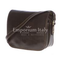 Borsa donna in vera pelle RINO DOLFI mod. PERLA colore TESTA DI MORO Made in Italy