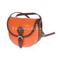 Borsa donna in vera pelle MAESTRI mod. RAMONA colore ARANCIO Made in Italy