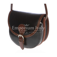 Borsa donna in vera pelle MAESTRI mod. RAMONA colore NERO Made in Italy