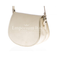 Borsa donna in vera pelle RINO DOLFI mod. REBECCA colore PANNA Made in Italy