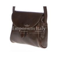 Borsa donna in vera pelle RINO DOLFI mod. ROSETTA colore TESTA DI MORO Made in Italy