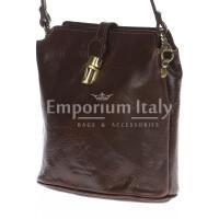 Borsa donna in vera pelle RINO DOLFI mod. NIVEA colore TESTA DI MORO Made in Italy