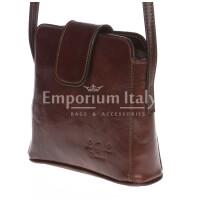 Borsa donna in vera pelle MAESTRI mod. ROSSANA colore MARRONE Made in Italy