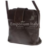 Borsa donna in vera pelle MAESTRI mod. ROSSANA colore TESTA DI MORO Made in Italy