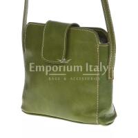 Borsa donna in vera pelle MAESTRI mod. ROSSANA colore VERDE Made in Italy