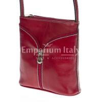 Borsa donna in vera pelle MAESTRI mod. SONIA colore ROSSO Made in Italy