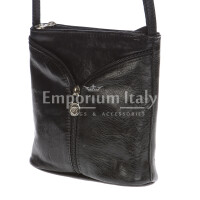 Borsa donna in vera pelle MAESTRI mod. SONIA colore NERO Made in Italy