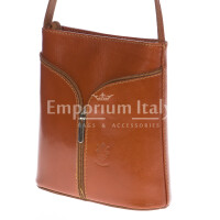 Borsa donna in vera pelle MAESTRI mod. SONIA colore MIELE Made in Italy