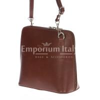 Borsa donna in vera pelle MAESTRI mod. SERENA colore MARRONE Made in Italy