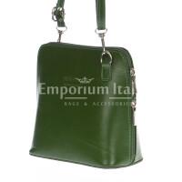 Borsa donna in vera pelle MAESTRI mod. SERENA colore VERDE Made in Italy