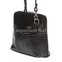 Borsa donna in vera pelle MAESTRI mod. SANDRA colore NERO Made in Italy