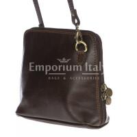 Borsa donna in vera pelle MAESTRI mod. SANDRA colore TESTA DI MORO Made in Italy