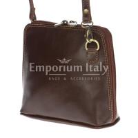 Borsa donna in vera pelle MAESTRI mod. SANDRA colore MARRONE Made in Italy