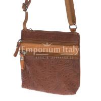 Borsa donna in vera pelle CHIARO SCURO mod. SABINA colore MARRONE Made in Italy