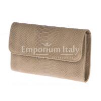 Borsa donna in vera pelle CHIARO SCURO mod. EMILIA colore BEIGE Made in Italy