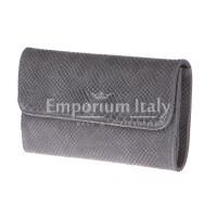 Borsa donna in vera pelle CHIARO SCURO mod. EMILIA colore GRIGIO Made in Italy