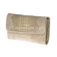 Borsa donna in vera pelle CHIARO SCURO mod. EMILIA colore PANNA Made in Italy