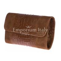 Borsa donna in vera pelle CHIARO SCURO mod. EMILIA colore MARRONE Made in Italy