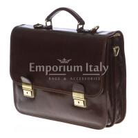 Cartella ufficio / lavoro in vera pelle RINO DOLFI mod. ARSENIO colore TESTA DI MORO Made in Italy.