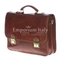 Cartella ufficio / lavoro in vera pelle RINO DOLFI mod. ARSENIO colore MARRONE Made in Italy.