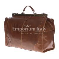 Borsone da viaggio uomo\donna in vera pelle RENO, colore MARRONE, RINO DOLFI, MADE IN ITALY