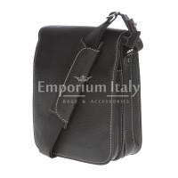 Borsa uomo in vera pelle EMPORIO TITANO mod. FULVIO colore NERO Made in Italy
