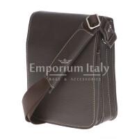 Borsa uomo in vera pelle EMPORIO TITANO mod. FULVIO colore TESTA DI MORO Made in Italy