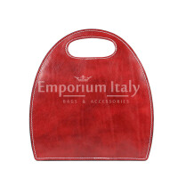 Borsa donna in vera pelle RINO DOLFI mod. WINONA, colore ROSSO, Made in Italy.