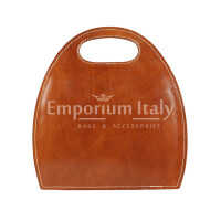 Borsa donna in vera pelle RINO DOLFI mod. WINONA, colore MIELE, Made in Italy.