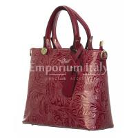 Borsa donna in vera pelle, DELIA REI, mod ADELI colore ROSSO, Made in Italy.