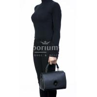 Borsa donna in vera pelle, DELIA REI, mod EVELIN colore nero, Made in Italy.