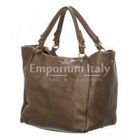 Borsa donna in vera pelle, DELIA REI, mod ELODY colore taupe, Made in Italy.