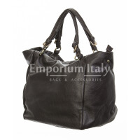 Borsa donna in vera pelle, DELIA REI, mod ELODY colore marrone, Made in Italy.